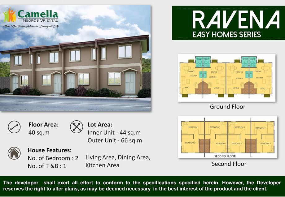 Camella Homes Dumaguete House For Sale RAVENA Model