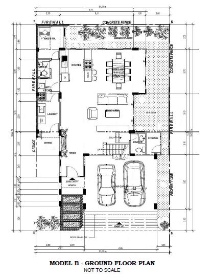 Model B Ground Floor Plan